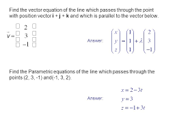 parallel planes equations. find the vector equation of line which passes through point with position i parallel planes equations 2
