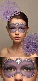 model idea crystal mask take an eye mask and trace around eyes for a pattern take away mask and then proceed to fill or paint in with colour choice