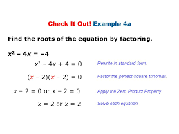 find the roots of the equation by factoring