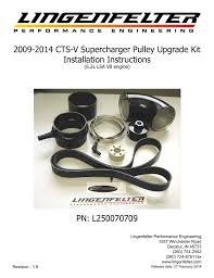 2009 2014 Cts V Supercharger Pulley Upgrade Kit Installation