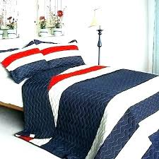 rugby stripe quilt pottery barn comforter bedding charming red white blue set