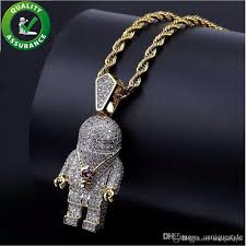 whole iced out pendant hip hop jewelry mens bling chain pendants designer necklace luxury pandora style charms micro paved cz diamond fashion rap