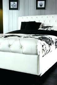 white leather bed white leather bed frame queen leather bed frame queen leather bed frame white