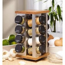 Kamenstein Warner Stainless Steel and Bamboo 16-jar Spice Rack - Free  Shipping On Orders Over $45 - Overstock.com - 16416155