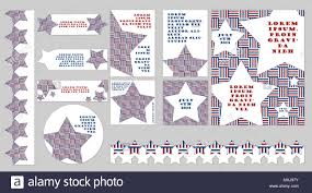 Set Of Patriotic Templates In Different Shapes And Sizes For