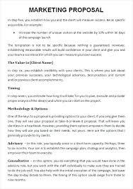Marketing Proposal Example Marketing Strategy Proposal Template