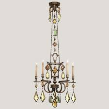 fine art lamps 708340 1 encased gems small 5 lamp bronze chandelier with multi loading zoom