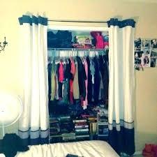 closet door ideas curtain for bedroom best curtains doors dorm curtain for closet door ideas