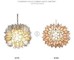 chairish lotus flower capiz lantern 715 vs world market large capiz lotus pendant 150 capiz chandelier look for less copycatchic luxe living for less
