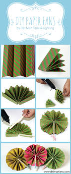 how to make your own hand held paper fans