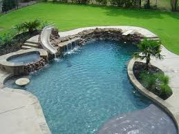 inground pools with diving board and slide. Swimming Pools Photo Gallery : Puryear Custom Love It, Be Perfect For The Little Ones! It Has A Beach Area, Slide, Diving Board And Hot Tub! Inground With Slide