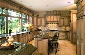 luxury yellow marble countertops or traditional white kitchen design stone wood island floor to ceiling window