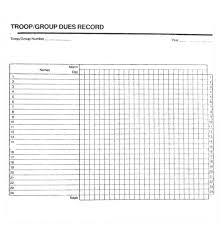 Attendant Sheet Girl Scout Attendance Sheet Chart Girls Records Insignia