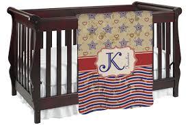 vintage stars stripes baby blanket personalized
