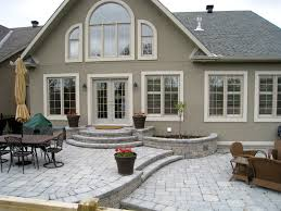 backyard raised patio ideas. Raised Patio, Small Round Garden Against House Backyard Patio Ideas S