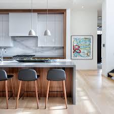 Interior Design Calgary Modern Kitchen Glossy White And Walnut Elbow Park Modern
