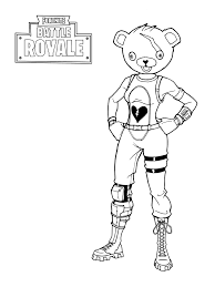 Fortnite Battle Royale Coloring Pages Free Fortnite Party In 2019