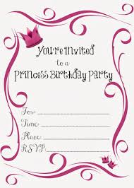 printable princess birthday party invitations printable princess birthday party invitations