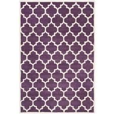 safavieh ham purple ivory 5 ft x 8 ft area rug