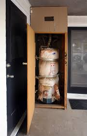 Water Heater Box Brick House