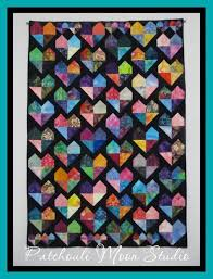 137 best Quilts Batik images on Pinterest   Mosaics, Baskets and ... & Batik Hearts Wall or Lap Quilt Adamdwight.com