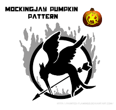 free mockingjay pumpkin pattern by painted flamingo