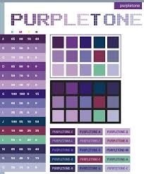 Purple tone color schemes, color combinations, color palettes for print  (CMYK) and Web (RGB + HTML)
