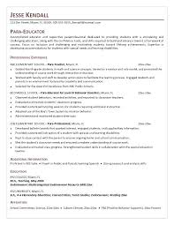 Paraprofessional Cover Letter Example