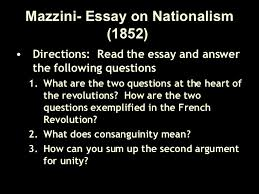 italian and german unification  9 mazzini essay