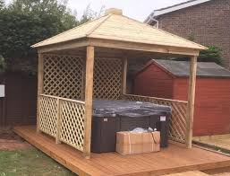 gazebo wooden hot tub cover jacuzzi shelter spa cover we assemble for free
