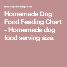Dog Food Portions Chart Homemade Dog Food Feeding Chart Serving Size By Dogs
