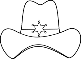 Cowboy Hat Coloring Page Free Cowboy Boot Outline Coloring Pages