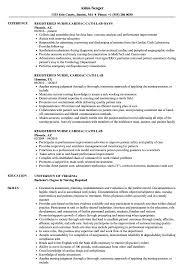 Sample Cardiac Nurse Resume Registered Nurse Cardiac Cath Resume Samples Velvet Jobs