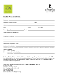 Printable Donation Form Template Online Raffle Donation Form Fill Online Printable