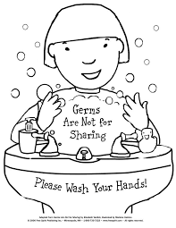 Free printable coloring page to teach kids about hygiene: Germs ...