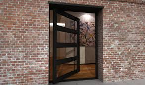 swing steel frame doors