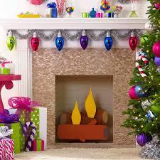 fake cardboard fireplace