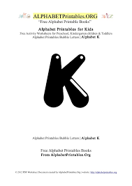 alphabetprintables letter k bubble