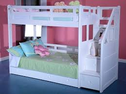 bunk bed with stairs for girls. Delighful Bunk White Bunk Beds Solid Wood Bed Staircase Storage Decoration Ideas For 21st  Birthday Party Full Size Intended With Stairs Girls E