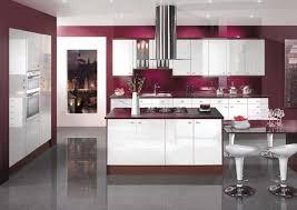 Nice ... Kitchen, Kitchen How To Design Kitchen With Modern White Kitchen Island  Maroon Wall And White ...