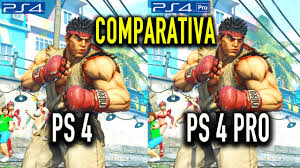 street fighter v ps4 ps4 pro comparativa youtube