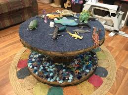 create budget friendly playful indoor outdoor resources by upcycling and repurposing wooden spools and