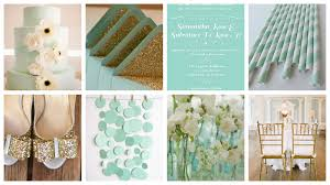 Wedding Design Inspiration Board Mint Gold White Lindsey