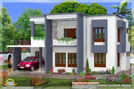 simple home designs. 2329 square feet 4 bedroom simple flat roof home design designs