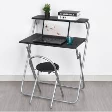 furniturer foldable computer desk and chair set magic panel space saving for children home study co uk kitchen home