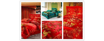 chinese bed sheets set asian style