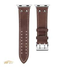genuine cowhide leather watch band for apple watch series 3 2 1