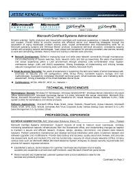 System Administrator Resume Awesome Microsoft Certified System Administrator Resume