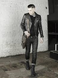 view leather monkeys biker jacket clothing and accessories lookbook look 1