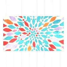 teal area rug pink and teal rug radiant dahlia teal orange c pink watercolor pattern pink